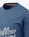 Men's Heather Long Sleeve T-Shirt Mockup - Front Half-Side View