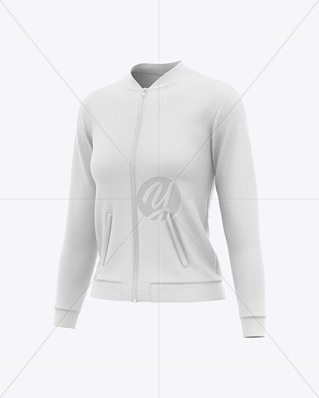 Women's Long Sleeve Bomber Jacket Mockup