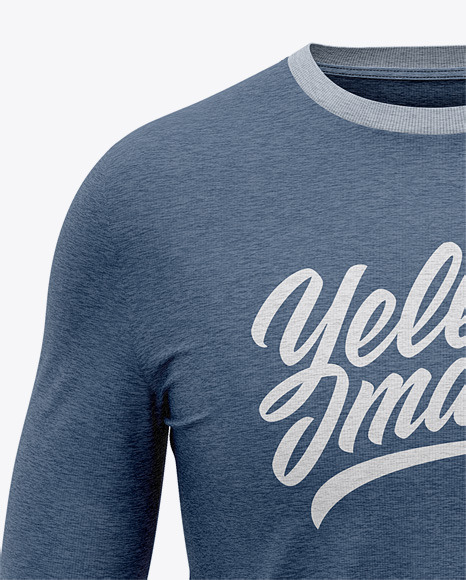 Men's Heather Long Sleeve T-Shirt - Front View