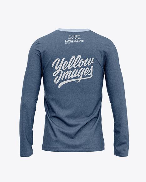 Men's Heather Long Sleeve T-Shirt - Back View
