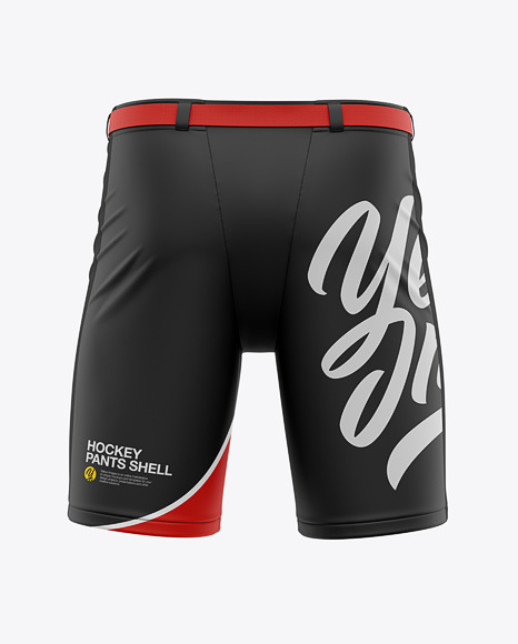 Download Hockey Pants Shell Back View In Apparel Mockups On Yellow Images Object Mockups