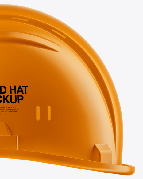 Glossy Hard Hat Mockup - Side View