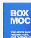 Box With Glossy Can Mockup