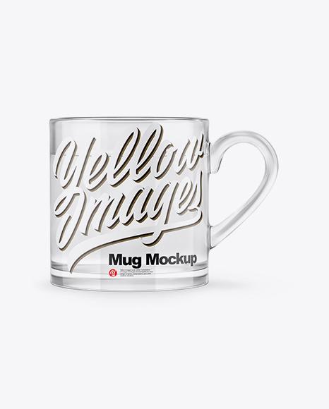 Glass Mug With Water Mockup
