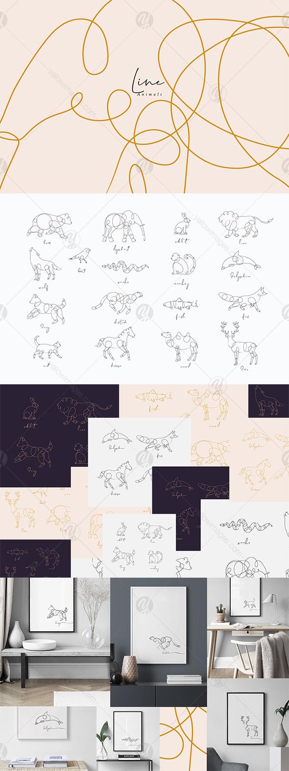 Line Animals
