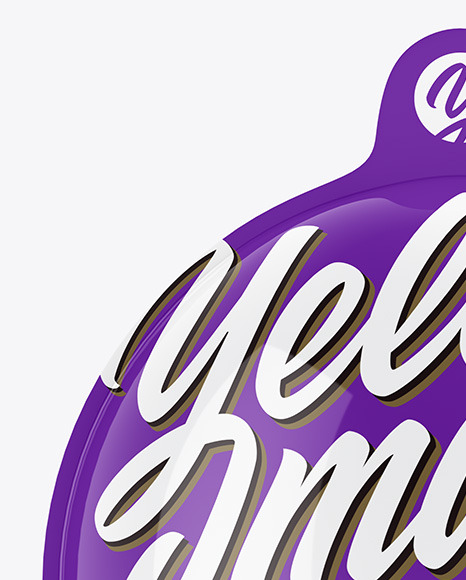 Glossy Chocolate Egg Pack Mockup