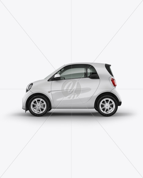 Smart Fortwo Mockup - Side View - Yellowimages Mockups