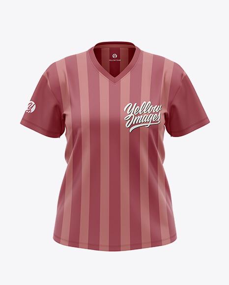 Women`s V-Neck T-Shirt Plus Size Mockup