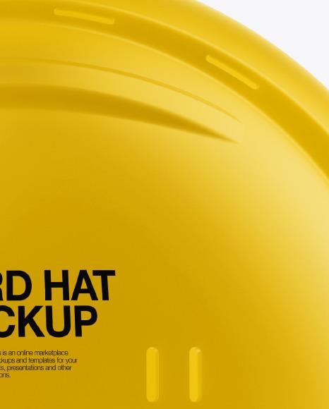Matte Hard Hat Mockup - Side View