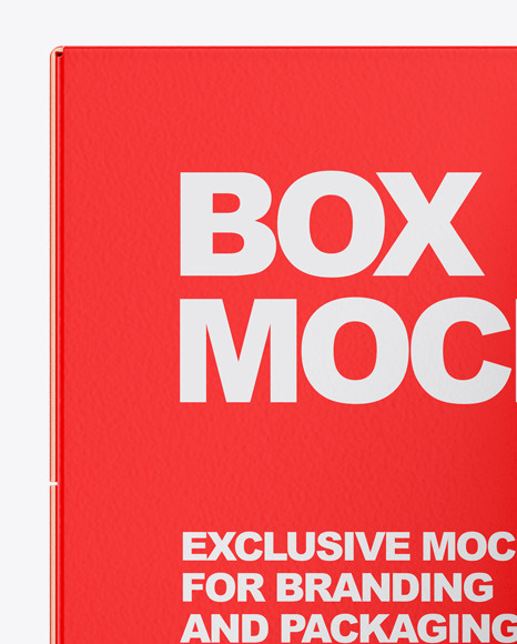 Box With Matte Can Mockup