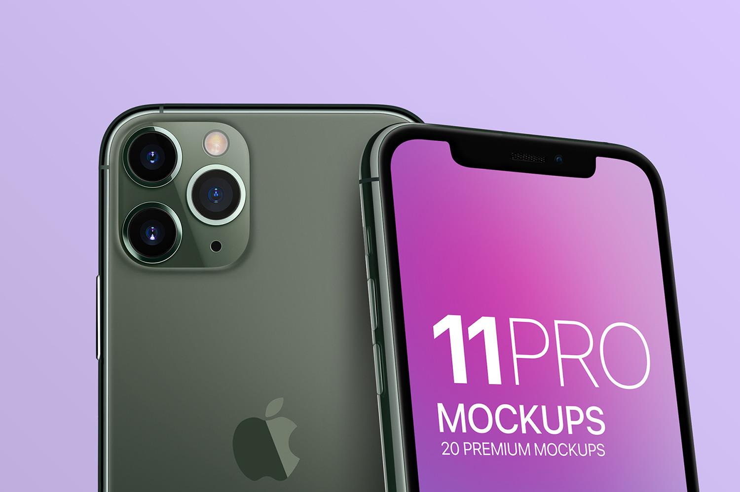 iPhone 11 Pro Display Mockups Vol. 02