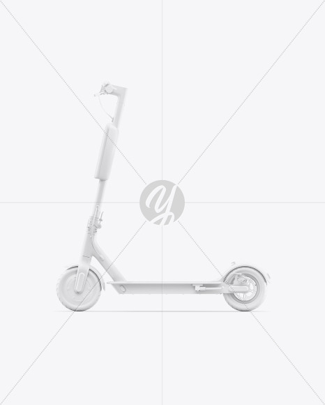 Electric Scooter Sideview Mockup - Yellowimages Mockups