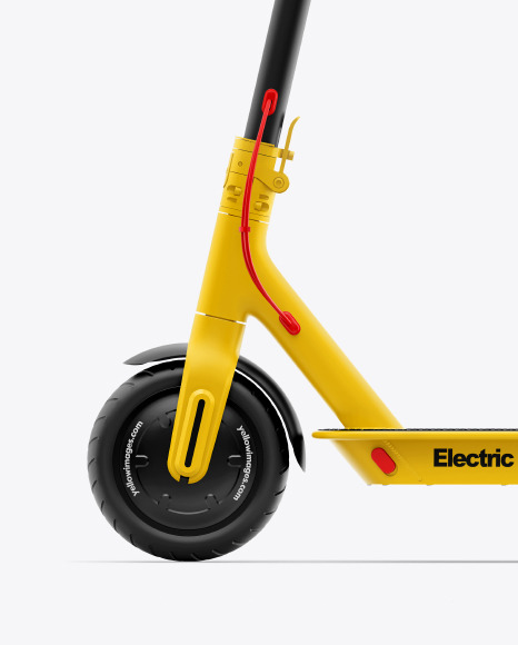 Electric Scooter Sideview Mockup