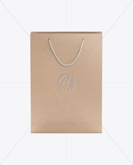 Kraft Bag Mockup - Front View