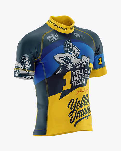 Download Men S Cycling Jersey Mockup In Apparel Mockups On Yellow Images Object Mockups
