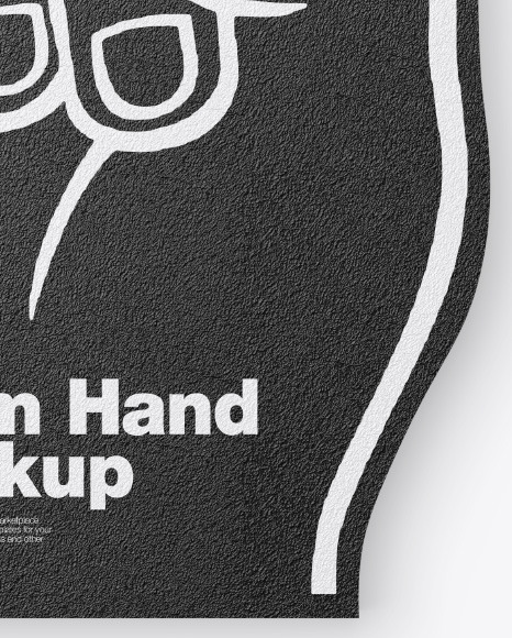 Textured Sports Fan Foam Hand Mockup