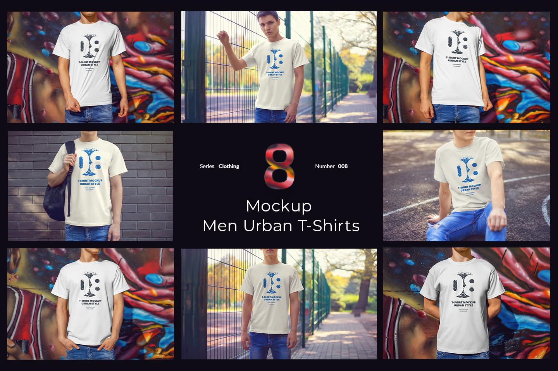 8 Urban Mockups T-Shirts