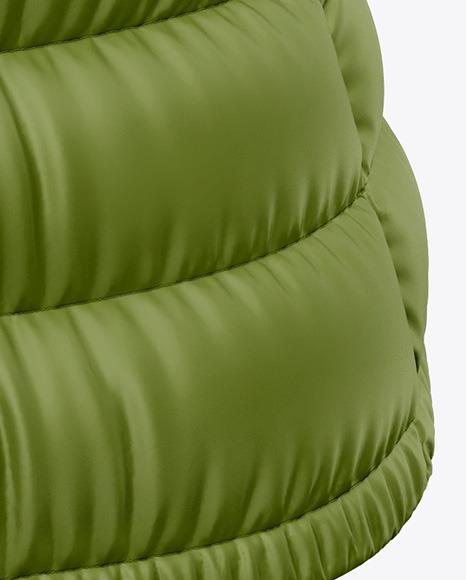 Matte Women's Down Vest Mockup - Back Half Side View