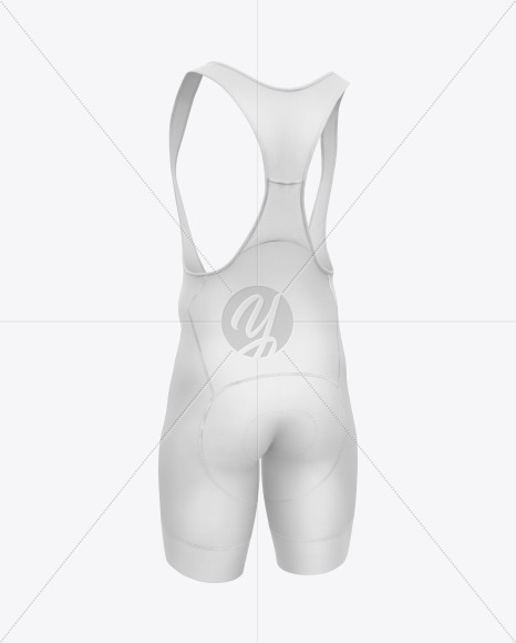 Download Mens Cycling Shorts Mockup Back View Yellow Images