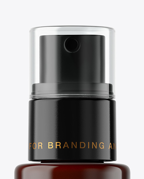 Amber Cosmetic Pump Bottle Mockup