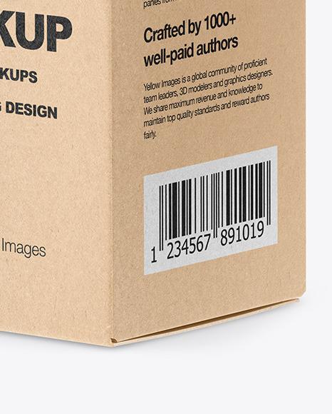 Download Opened Kraft Storage Jar Mockup Front View High Angle Shot PSD - Free PSD Mockup Templates