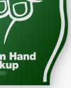 Sports Fan Foam Hand Mockup