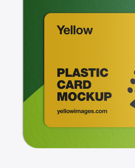 Download Plastic Card In Paper Pack Mockup In Stationery Mockups On Yellow Images Object Mockups PSD Mockup Templates
