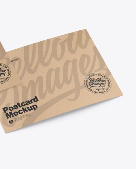 Kraft A5 Postcard Mockup