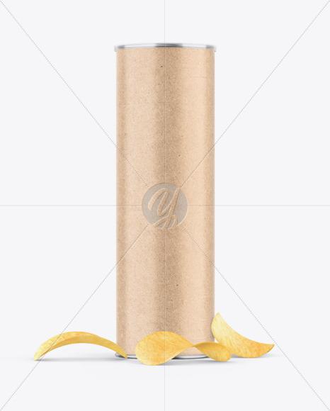 Kraft Snack Tube w/ Chips Mockup