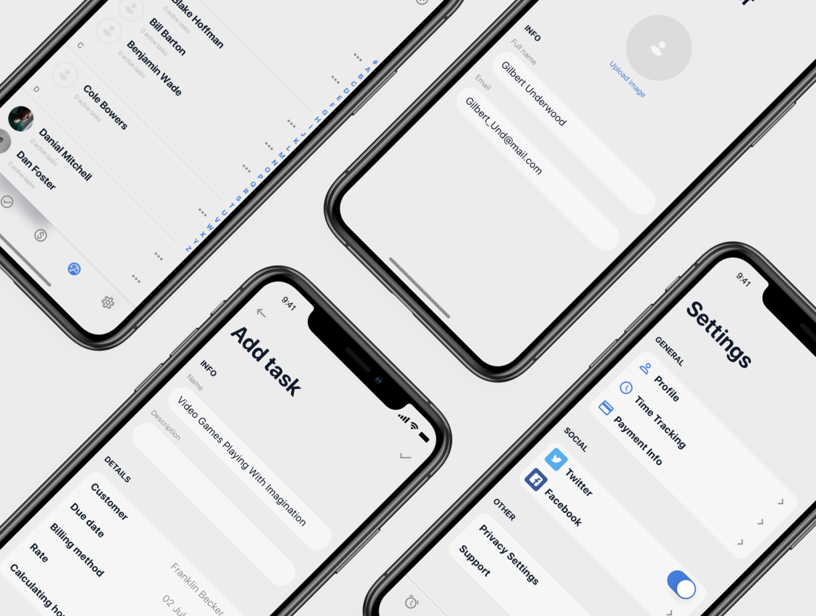 Timetracker iOS UI Kit