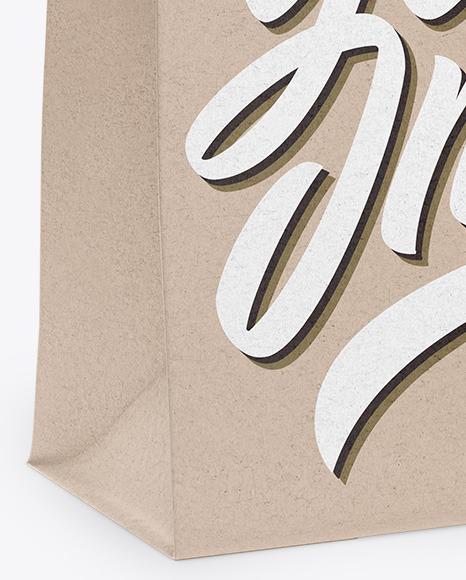 Kraft Bag Mockup - Half Side View