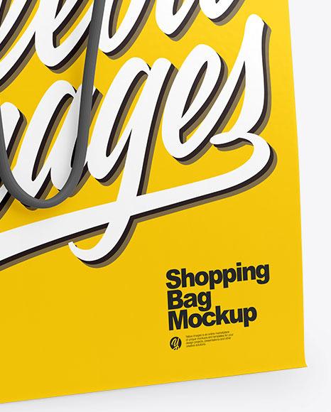 Bag Mockup - Half Side View