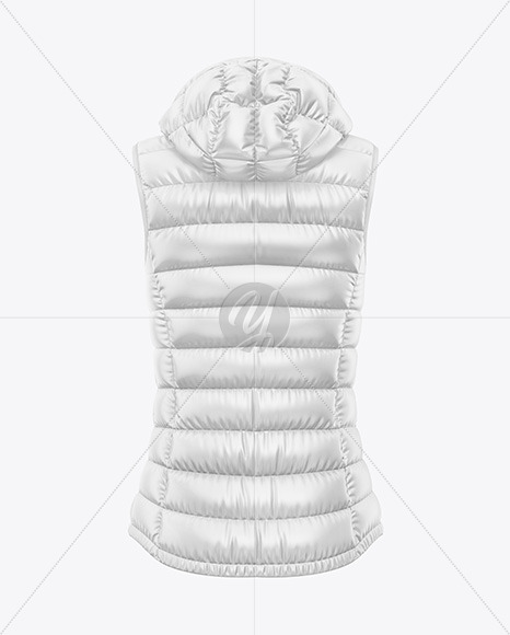 Download Glossy Womens Down Jacket Whood Mockup Back Half Side View Yellowimages