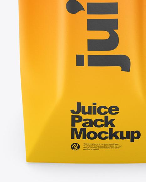 Juice Pack Mockup