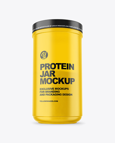 Frosted Protein Jar Mockup