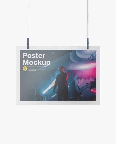 Glossy A3 Poster Mockup