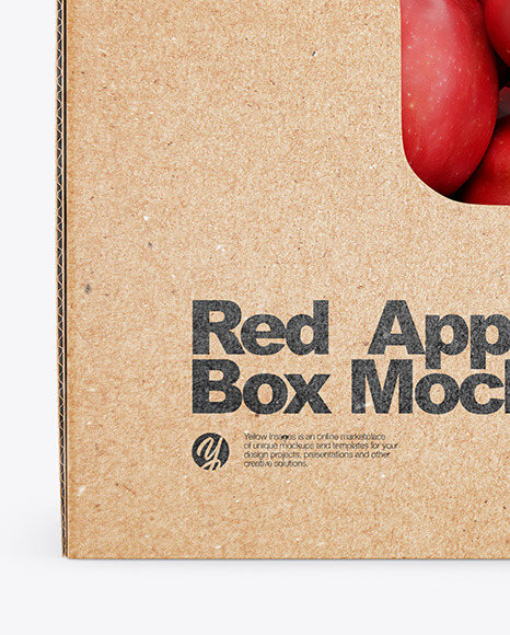 Box With Red Apples