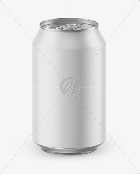 Matte Can w/ Metallic Finish Mockup