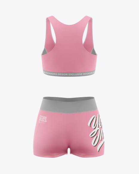 Women's Fitness Kit Mockup - Back View