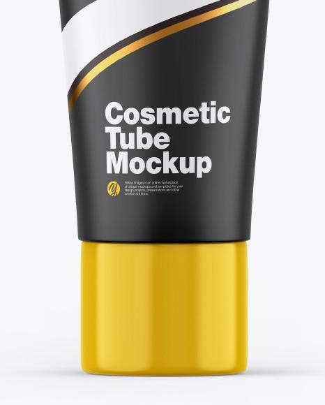 Matte Cosmetic Tube w/ Glossy Cap Mockup