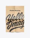 A4 Kraft Poster Mockup