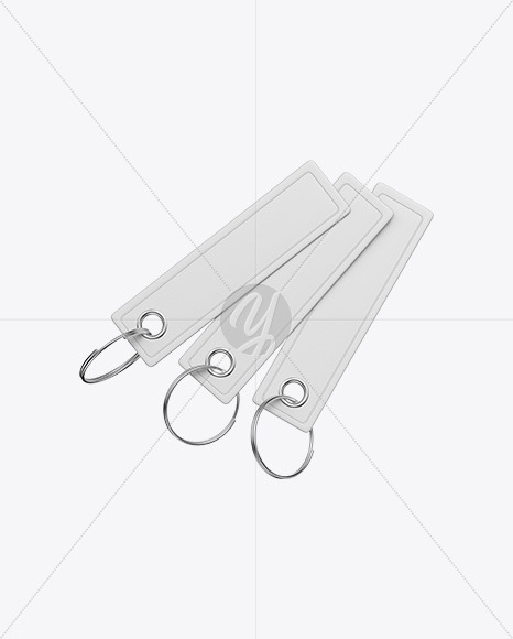 Three Keychains Mockup