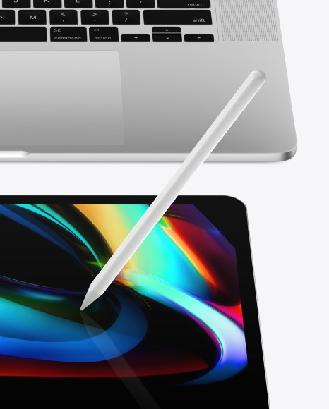 """MacBook Pro 16"""" And iPad Pro 12.9"""" Front View Mockup"""