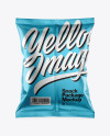 Matte Metallic Snack Package Mockup - Back View