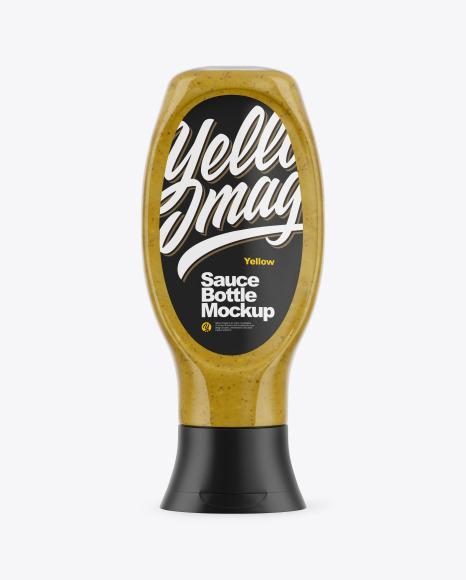 Mustard Sauce Bottle Mockup
