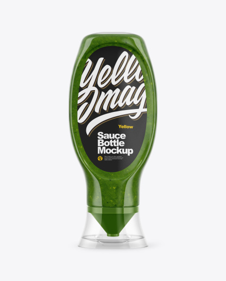 Pesto Sauce Bottle Mockup