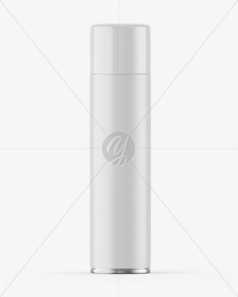 Matte Spray Bottle w/ Glossy Cap Mockup