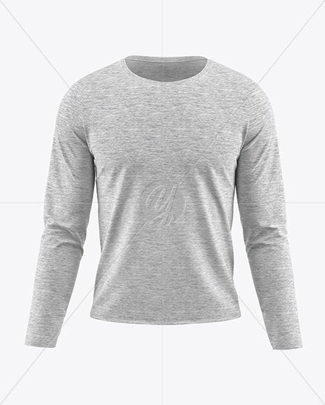 Melange Men's Long Sleeve T-Shirt Mockup