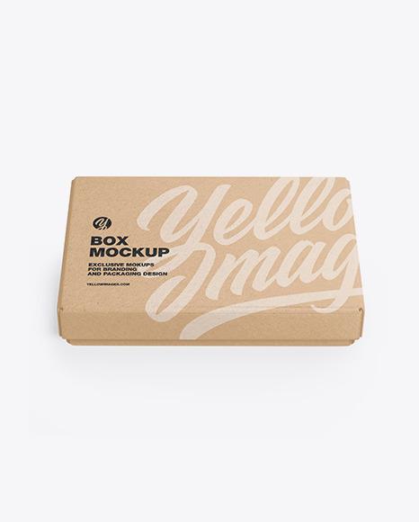 Kraft Gift Box Mockup