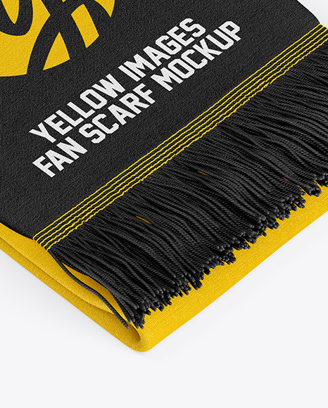 Download Fan Scarf Mockup Yellow Images